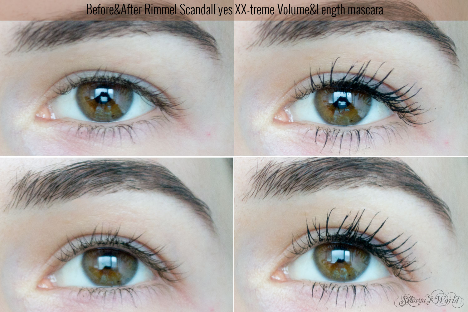 rimmel scandaleyes xx-treme mascara review before&after