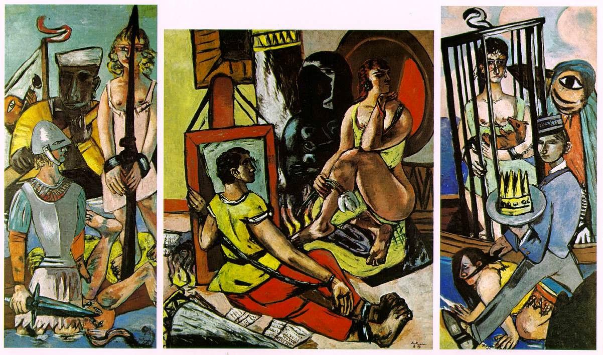 Max Beckmann - la tentation de Saint Antoine,1936-37.