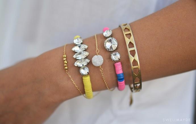 image diy tutorial roundup rhinestone vinyl bead bracelet vintage sequin