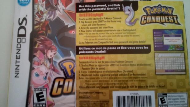 Versão americana de Pokémon Conquest (DS) vem com código para destravar Dratini no game Dratini