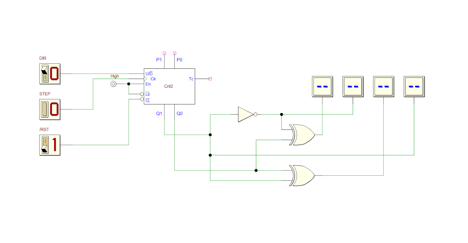 Computer Science Electronics And Mechanics Blog Circuit Diagram Not Gate On The Left A 2 Bit Up Down Counter Right Xor Gates