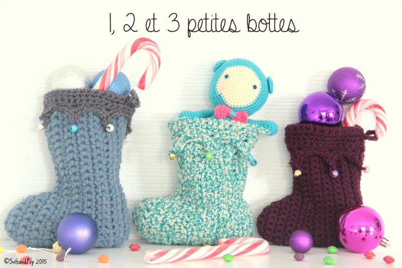 Bottes de l'Avent au crochet - Soft & Pop