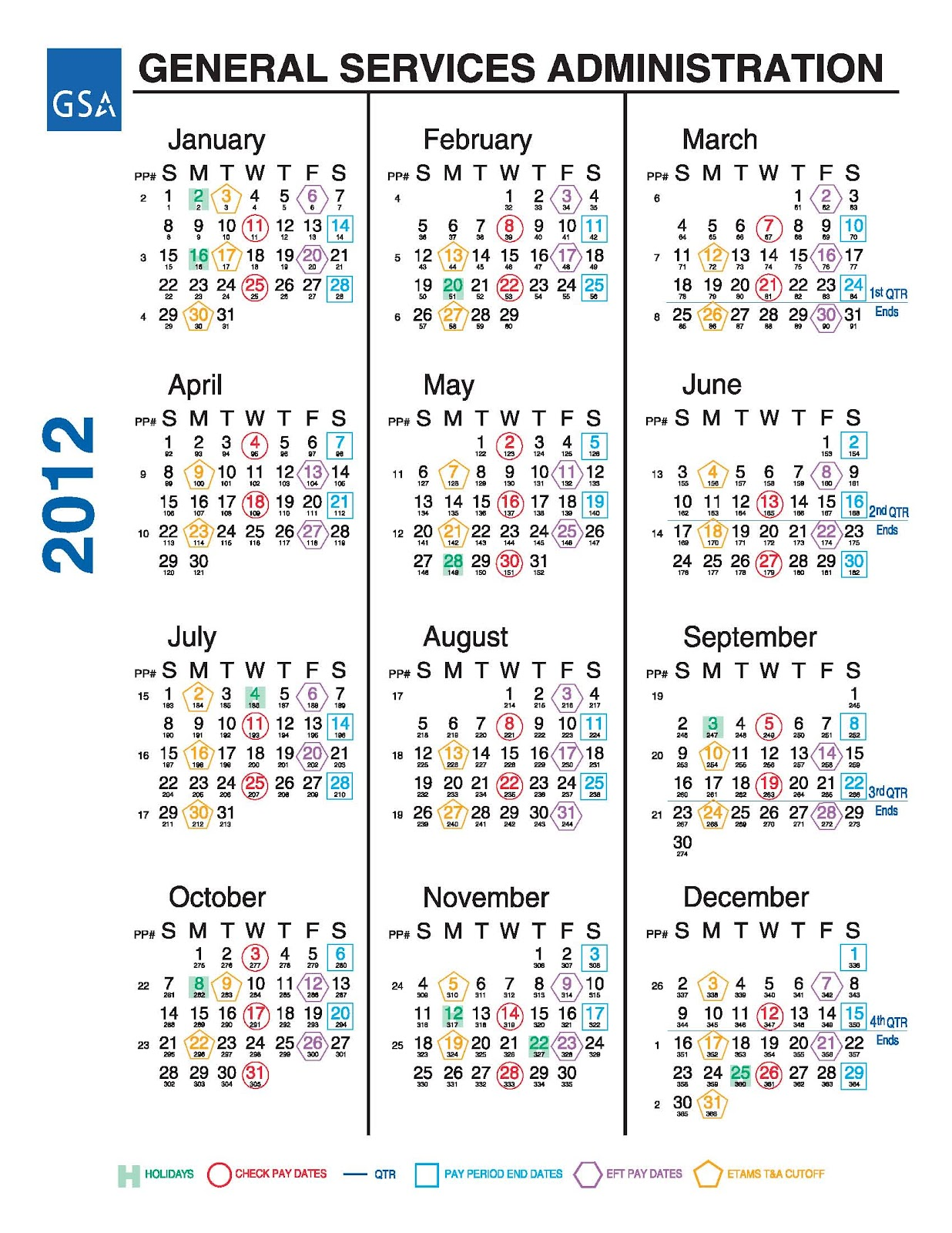 "for ""Federal Government Payroll Calendar"" – Calendar 2015"