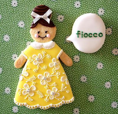 fiocco女の子のアイシングクッキー