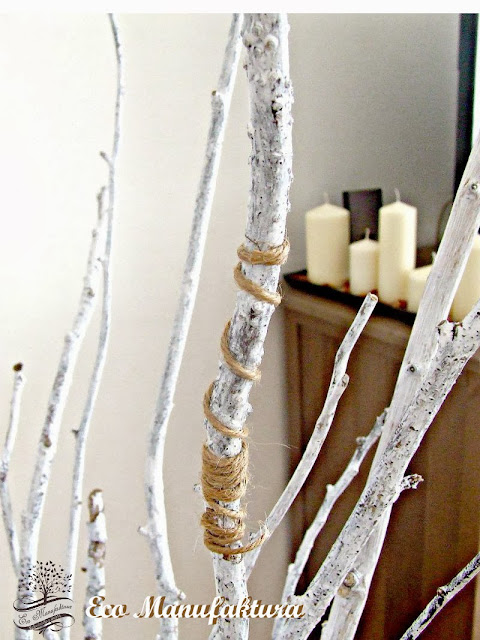 skandynawski motyw we wnętrzach sznurek jutowy i gałęzie Eco Manufaktura
