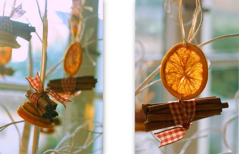 Pantry and parlour dried orange and cinnamon christmas for Baking oranges for christmas decoration