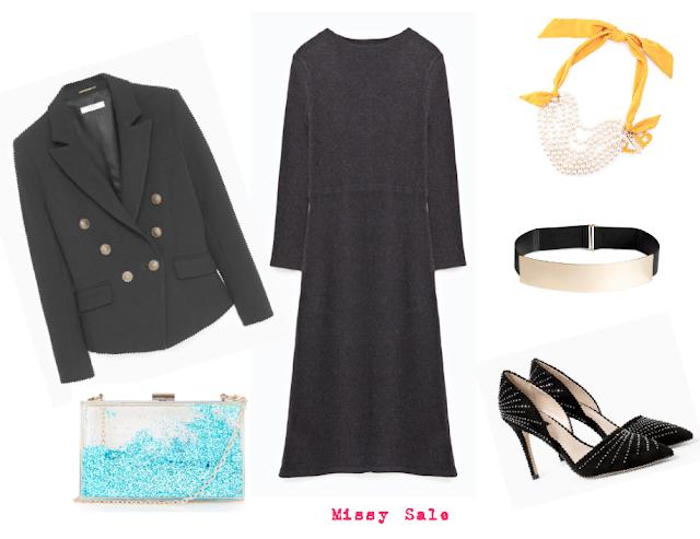 Celebraciones de navidad vestido de punto collage -Missy Sale-