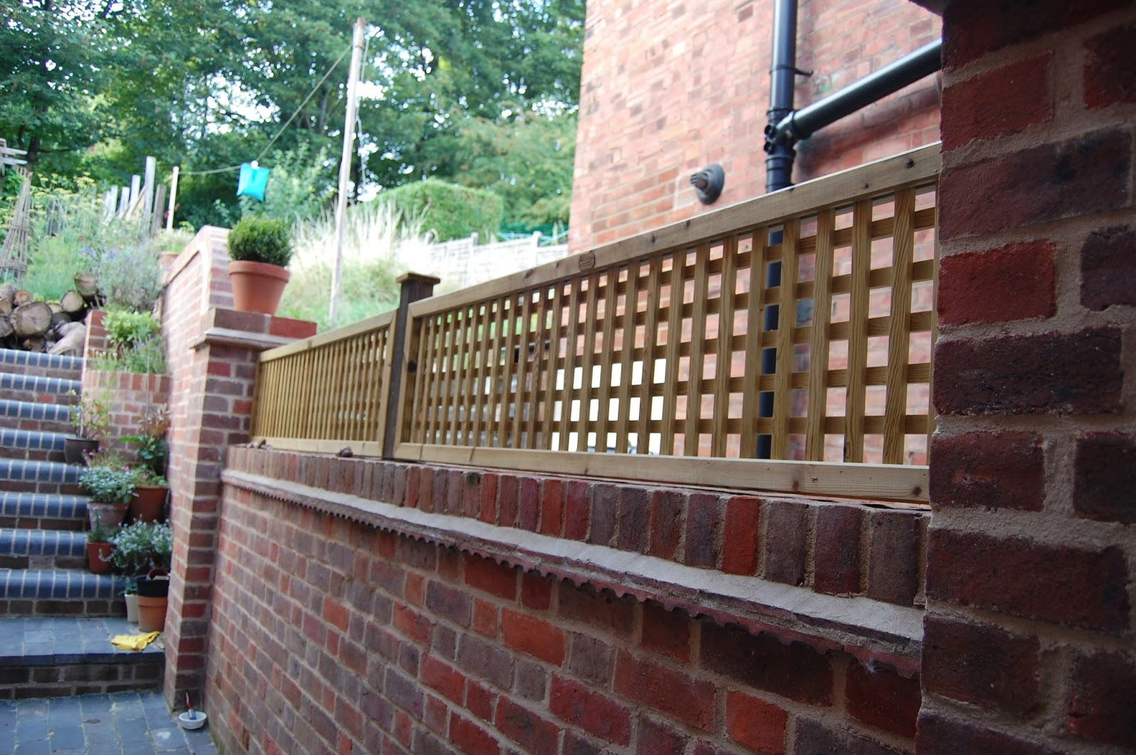 Lattice Trellis Fixed On Brick Wall