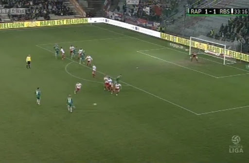 Rapid Vienna produce a brilliant free-kick routine for Guido Burgstaller to score against Red Bull