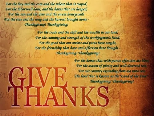 Free Thanksgiving Blessings Poems
