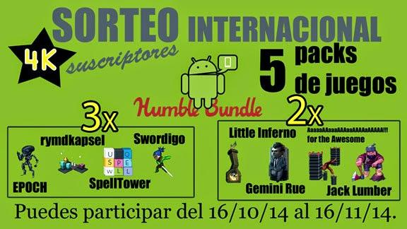 Participa para ganar un pack de juegos para Android.