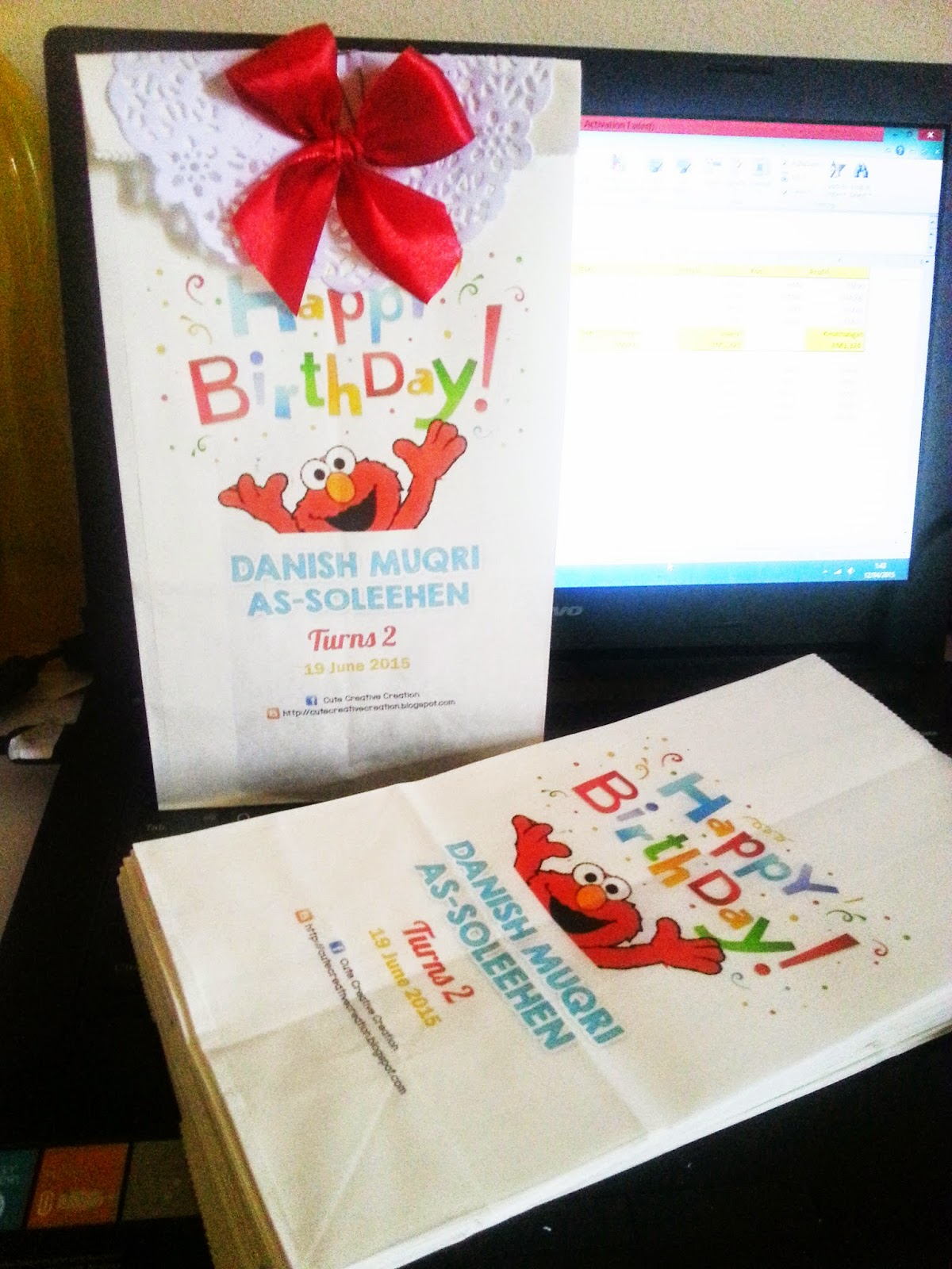 birthday tema elmo