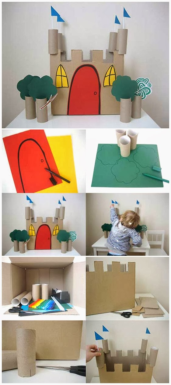 Toilet Paper Roll Castle Craft for Kids