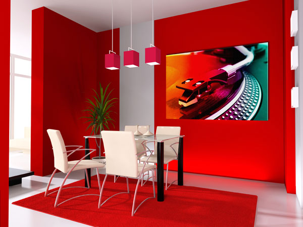 Luxury life design a colorful dining room her majesty red for Red dining room designs