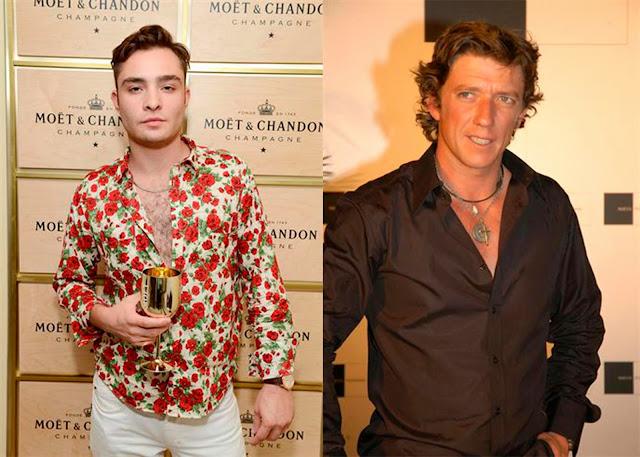 Ed Westwick y Nicolás Vallejo Nájera camisa desabrochada