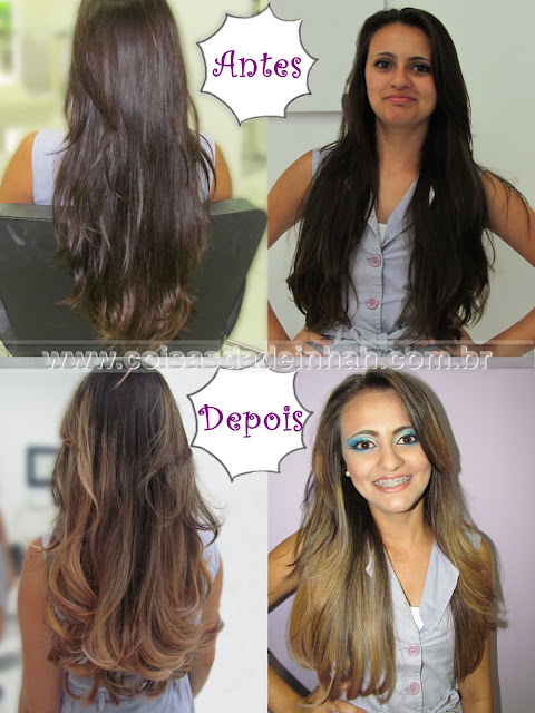 ombr hair antes depois