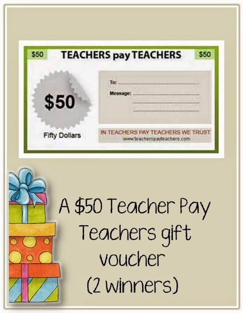 Win a $50 TpT Gift Certificate via Clever Classroom's blog