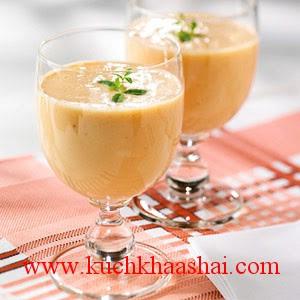 Strawberry-Mango Soy Milk Smoothie