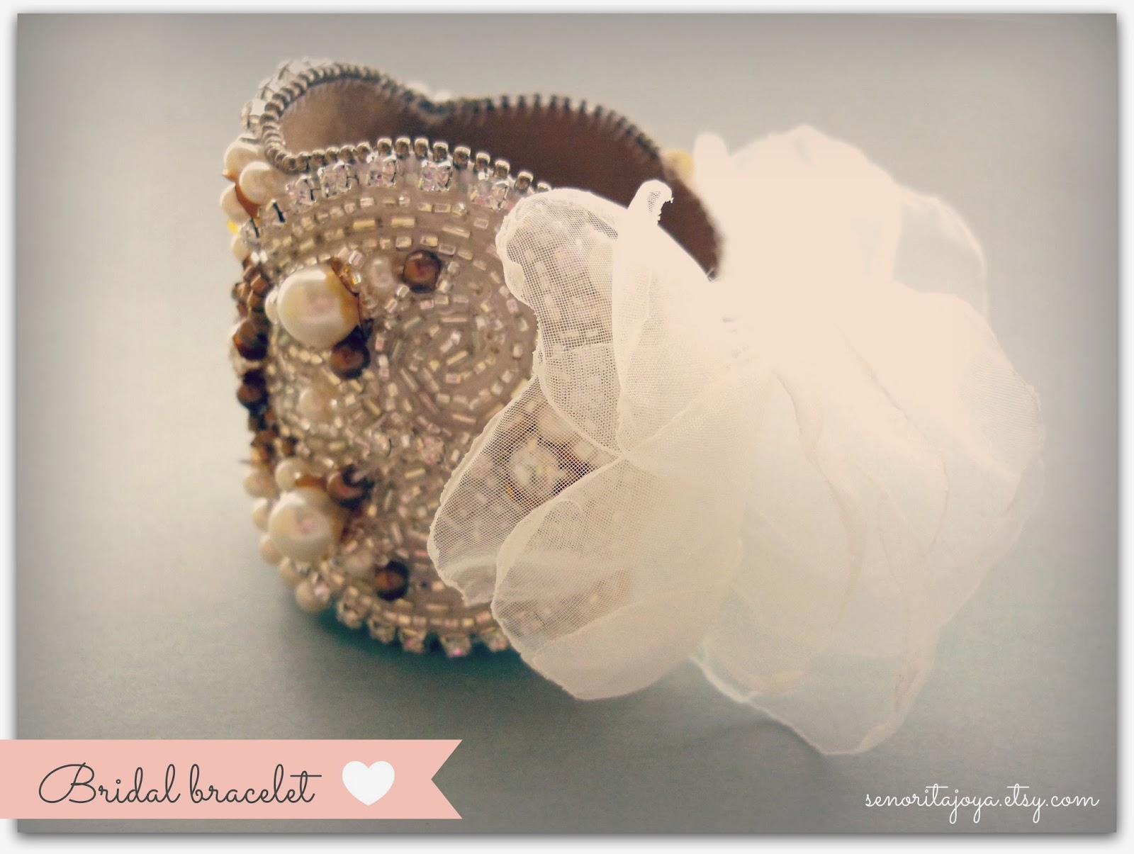 bridal statement cuff bracelet SenoritaJoya