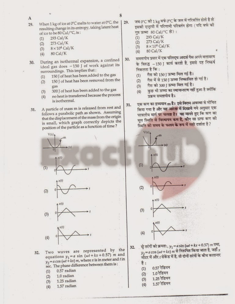 AIPMT 2011 Exam Question Paper Page 08