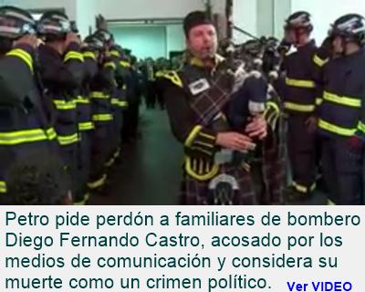 BOGOTÁ: Bombero Diego Fernando Castro, perseguido y acosado por los medios de comunicación.