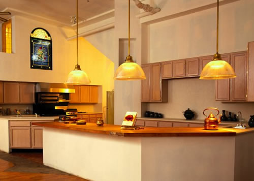 Home decoration ideas for Kitchen lighting ideas b q