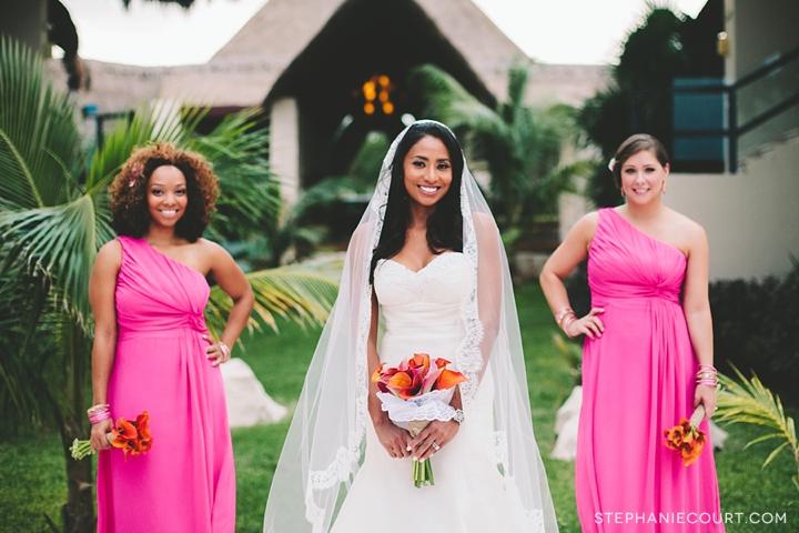 colorful cancun destination wedding