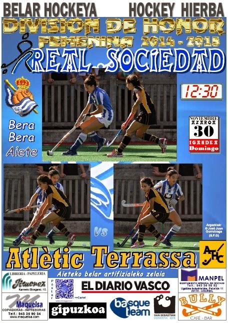 Cartel hockey 2014-11-30 Real Sociedad - Atlètic Terrassa