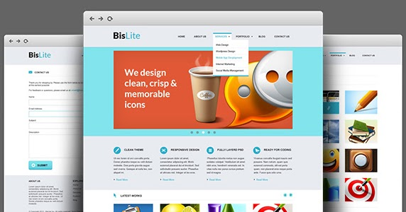template psd pour un site de business