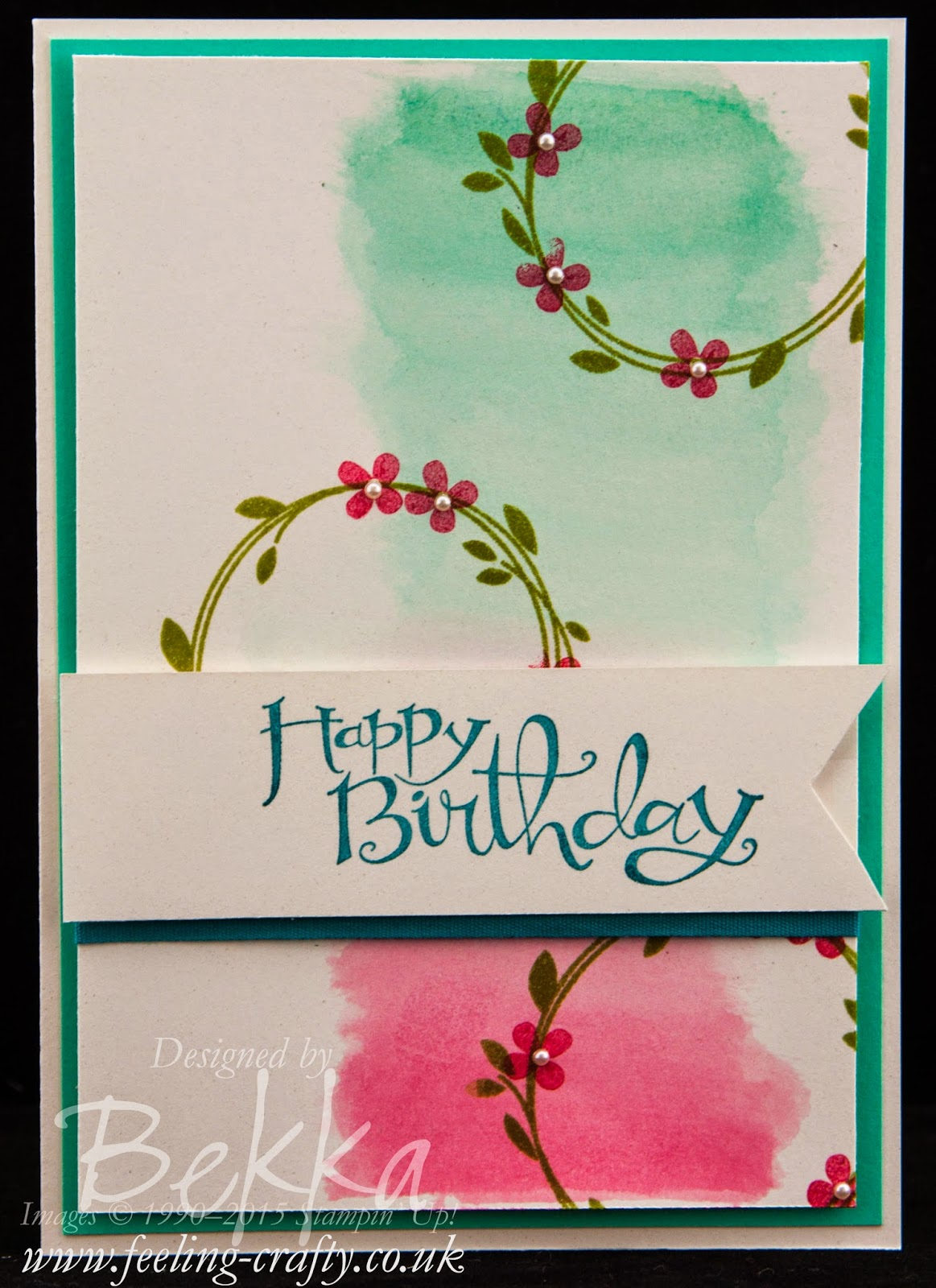 Your Perfect Day from Stampin' Up! UK - A Pretty Birthday Card - check out this blog or more info and to purchase these stamps