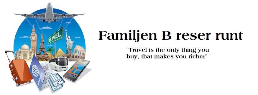 Familjen B reser runt