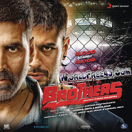 Poster Of Bollywood Movie Brothers (2015) 145MB Compressed Small Size Mobile Movie Free Download