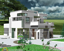 1930 Sq-ft Modern Flat Roof House - Kerala Home Design And