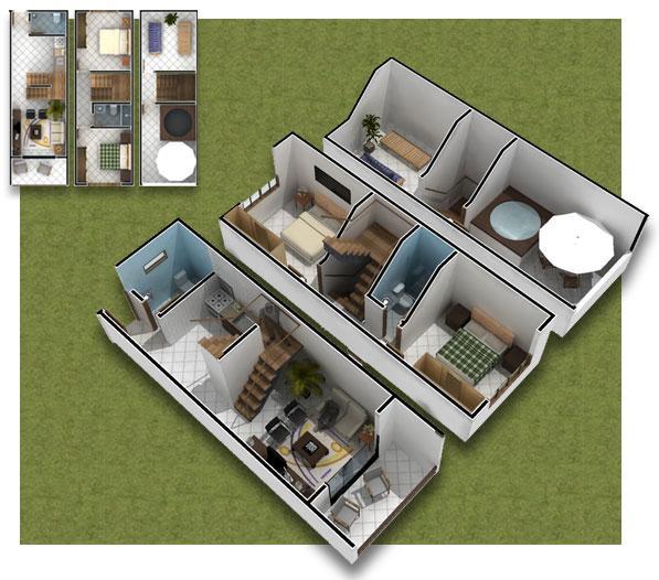 Planos de casas modelos y dise os de casas plano para casas peque as - Planos de casa en 3d ...
