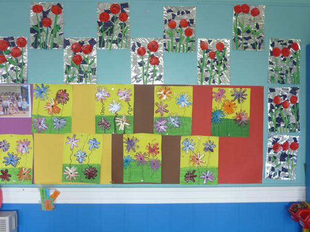 Fleurs printanières en maternelles