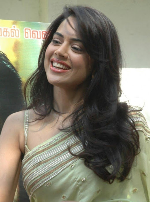 sameera reddy saree in vettai movie audio release