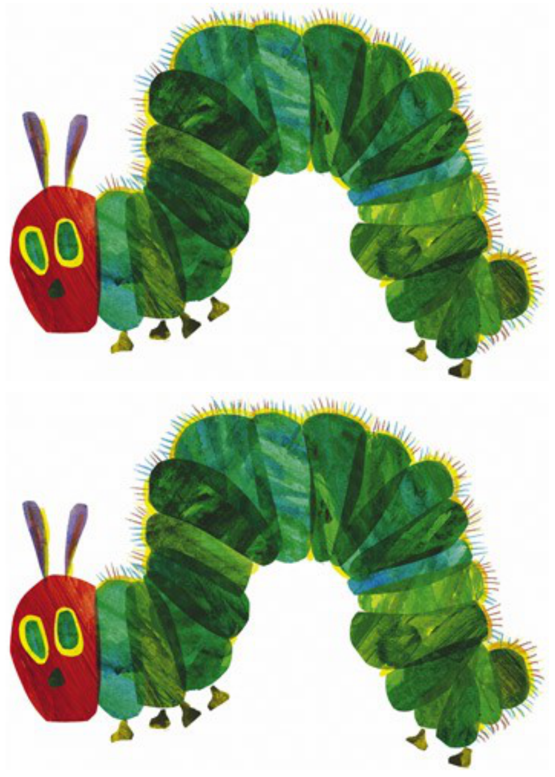 It's just a graphic of Mesmerizing The Very Hungry Caterpillar Printable