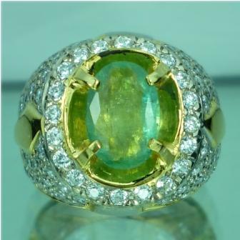 Cincin Batu Permata Mulia Natural Emerald Zamrud Ruby Bacan