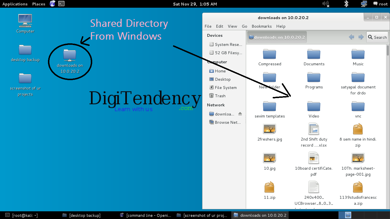 mounted directory from windows(www.digitendency.com)