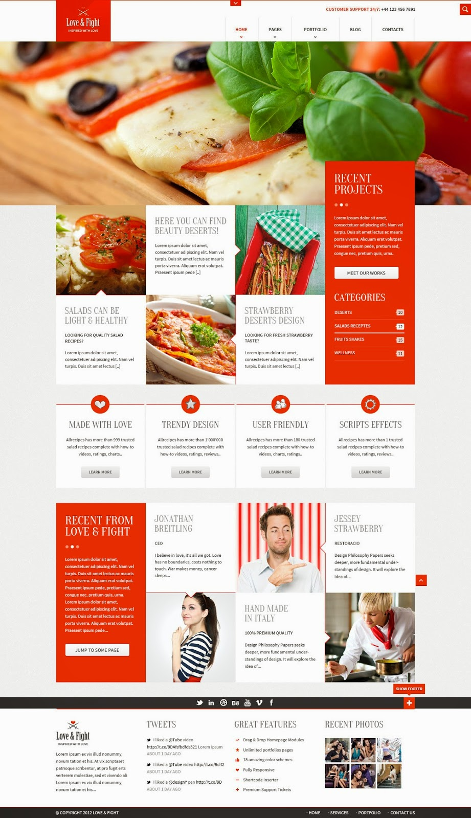 Free PSD Professional Web Template