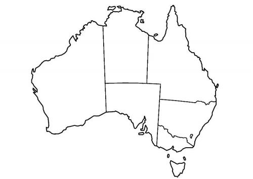 Mapa y Bandera de Australia para dibujar pintar colorear imprimir ...