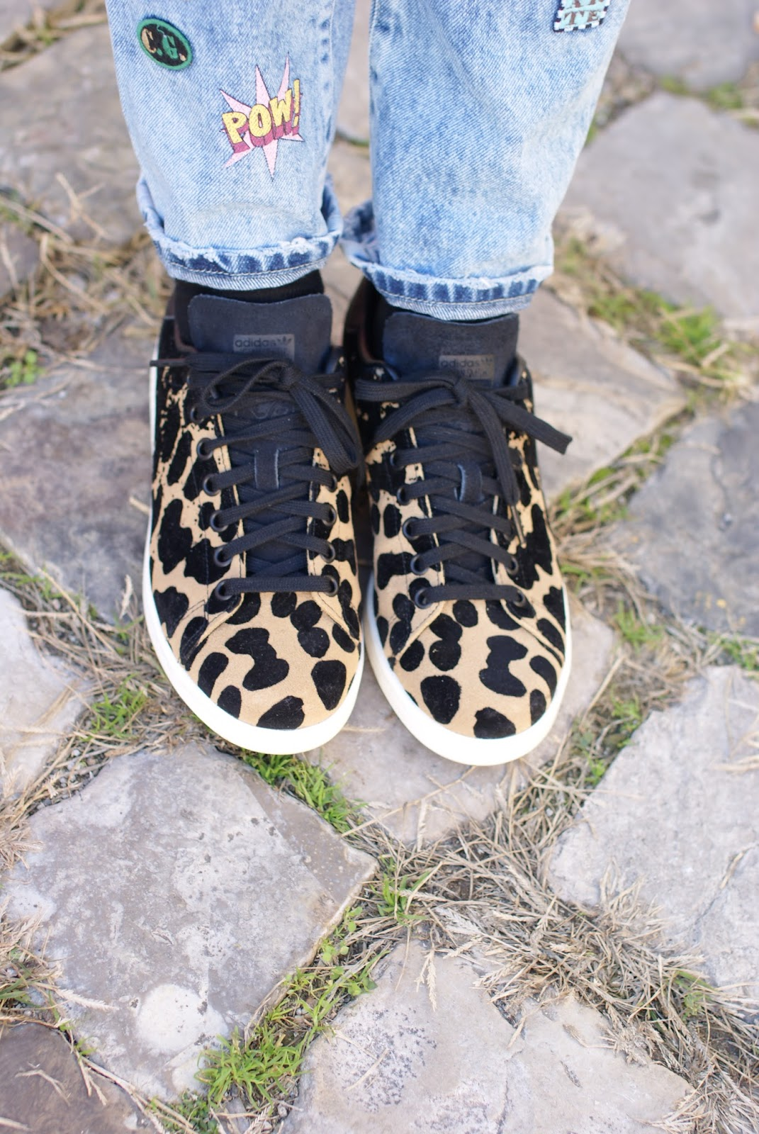 Adidas Originals Stan Smith cardboard sneakers leopard on Fashion and Cookies fashion blog, fashion blogger style
