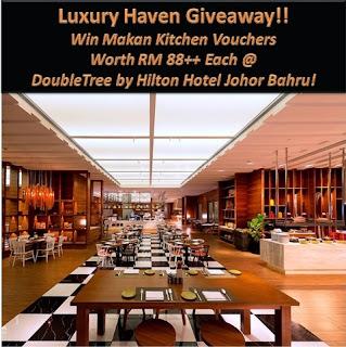 Win DoubleTree by Hilton Johor Bahru Makan Kitchen Vouchers!
