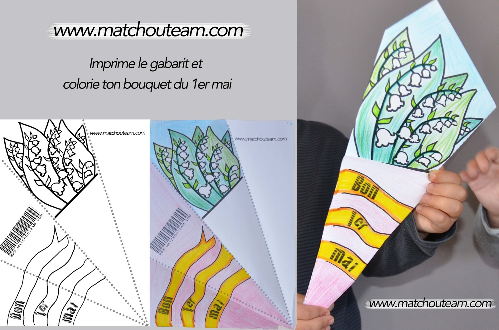 coloriage bouquet de muguet