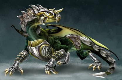 ARMADURAS DE DRAGON Dragon+con+armadura