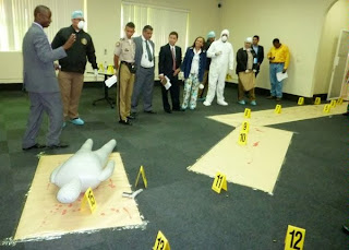 Police and court officials are trained in crime scene investigations.