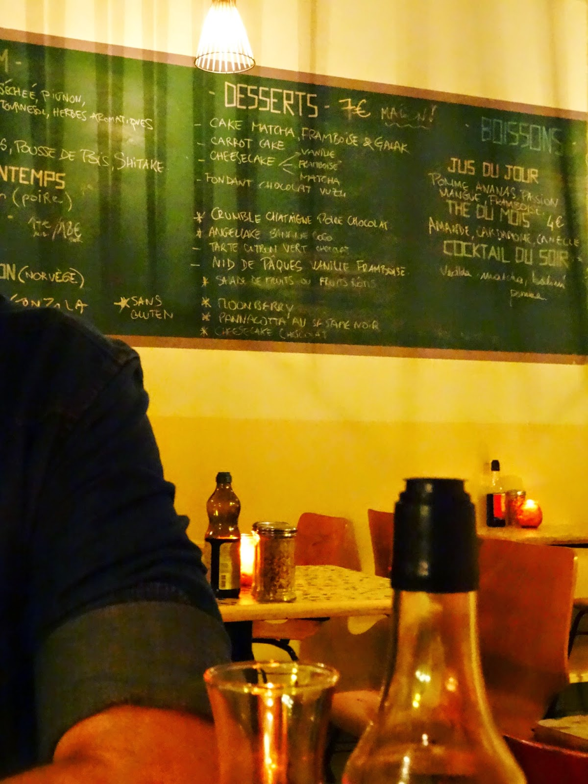 Gesundes Abendessen in Paris, Marais: Nanashi