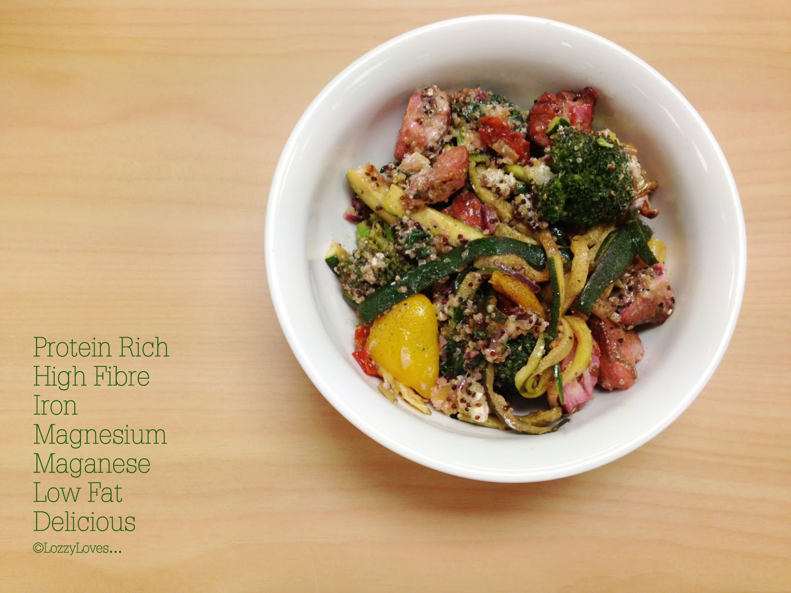 Lozzy Loves…: Roast Vegetable, Chicken & Quinoa Salad