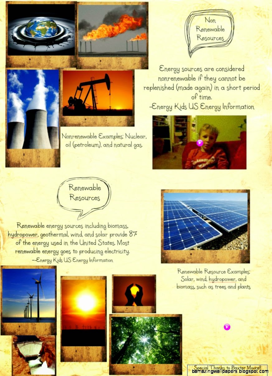 Nonrenewable and Renewable Resources  Publish with Glogster