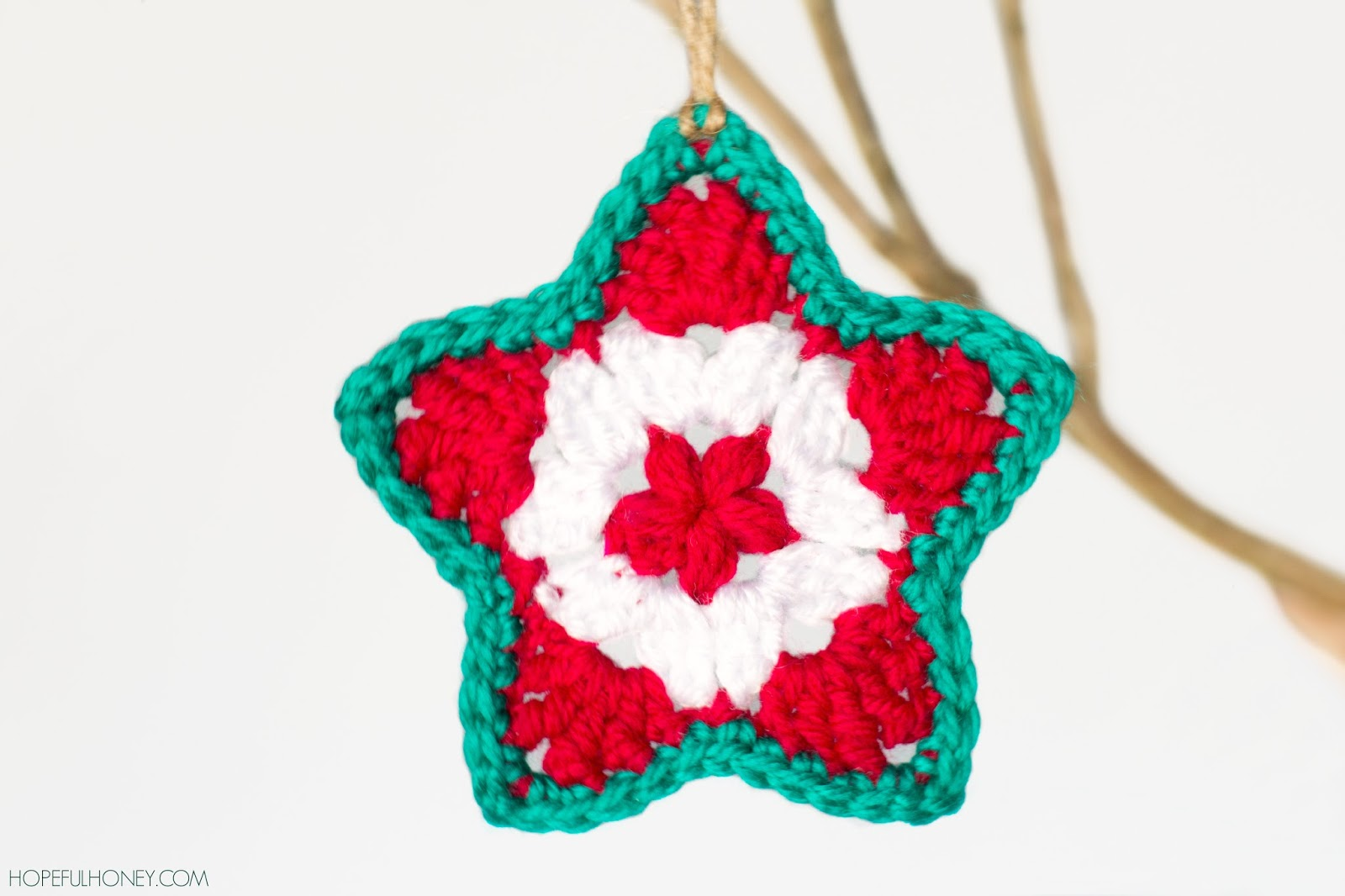 Star Christmas Ornament Crochet Pattern